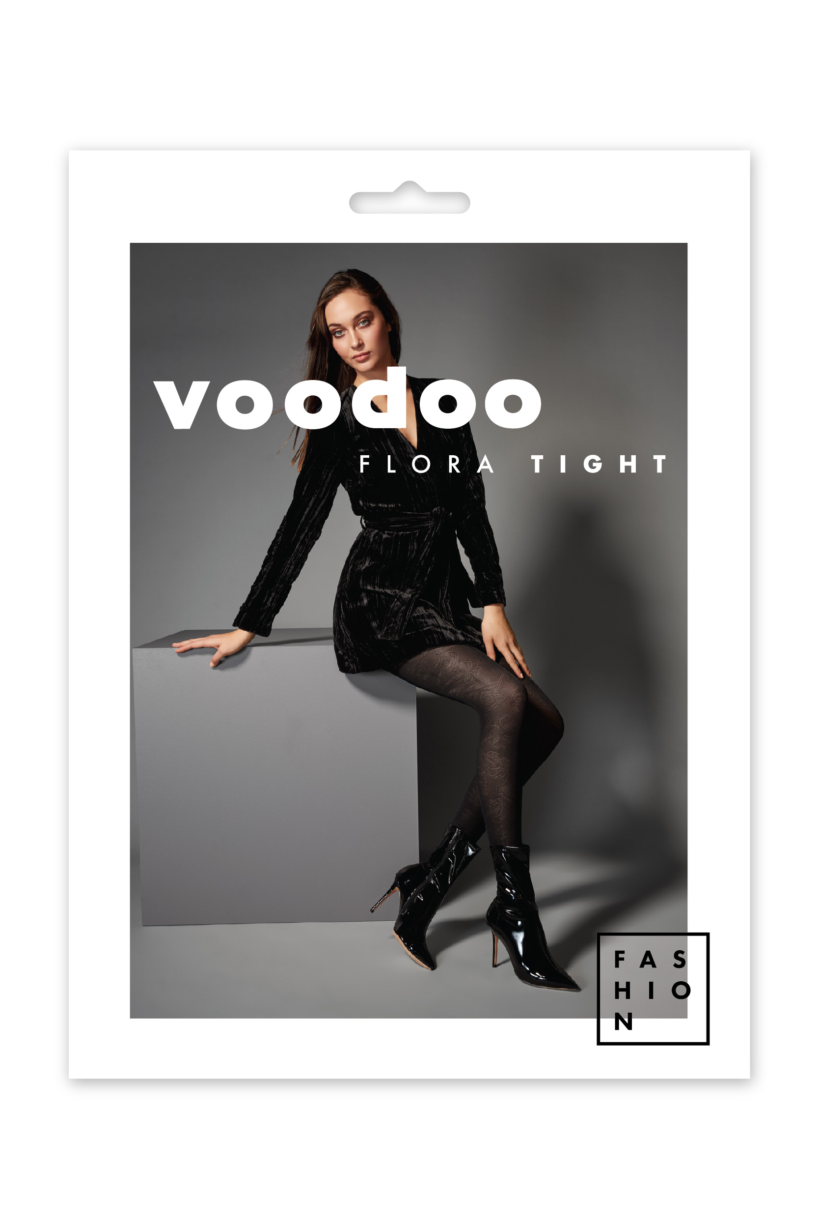 DRESS FOR SUCCESS WITH VOODOO FLORA TIGHTS IN BLACK