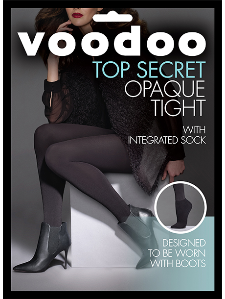 Voodoo Opaque Tight with Ankle Sock