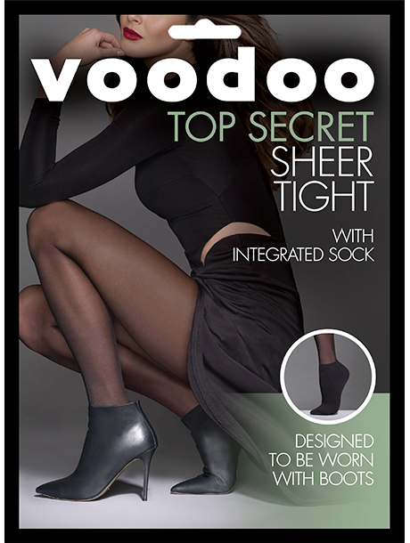 Voodoo Sheer Tight with Ankle Sock